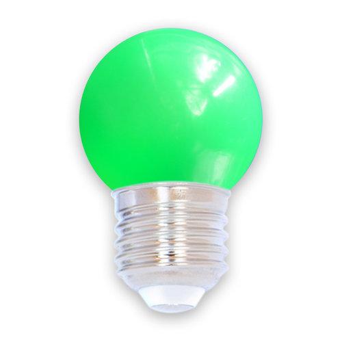 Lichterkette Glühbirne farbig, LED 1 Watt, grün