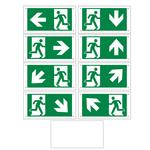 Piktogrammset für Notleuchten OTG-FF-6, OTG-VV-5 oder OTG-HH-1