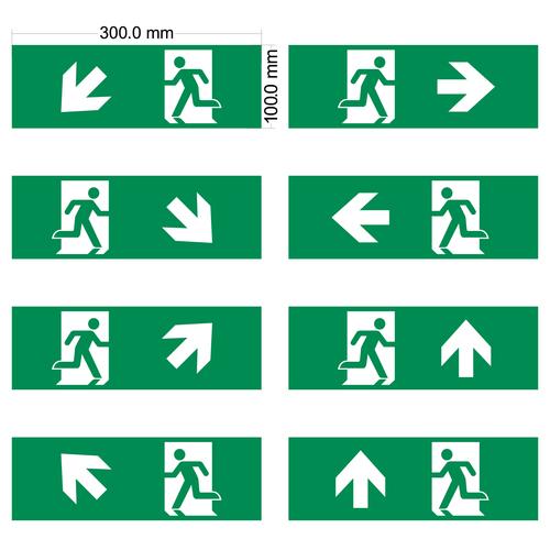 Piktogrammset für Notbeleuchtung
