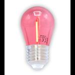 Lichterkette Glühbirne farbig, LED Filament, 1 Watt, rot