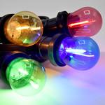 Lichterkette Glühbirne farbig, LED Filament, 1 Watt, blau