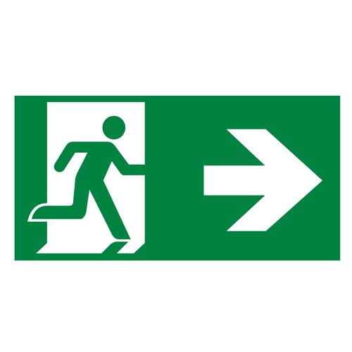 Piktogrammset für Notleuchte LI-BAK-010