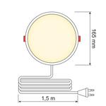 LED-Downlight rund - 12 Watt - Ø 165 mm