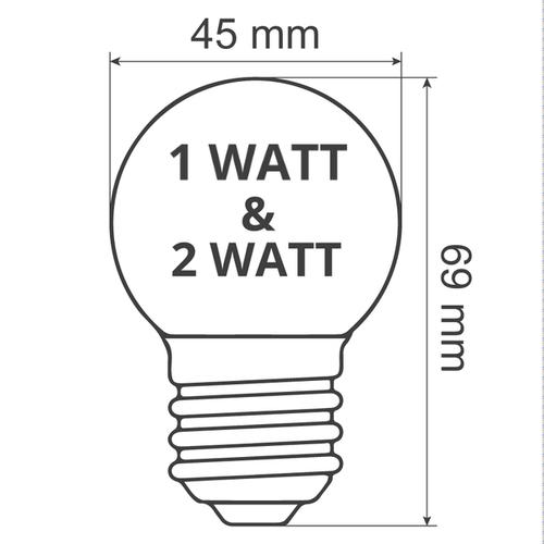 Illu Lichterkette, LEDs mit transparenter Abdeckung, 5-100 Meter