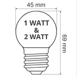 Lichterkette Glühbirne mit vertiefter LED Platzierung