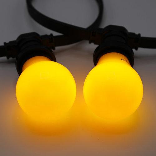 Lichterkette Glühbirne farbig, große Abdeckung, gelb, LED 2 & 5 Watt