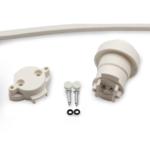 E27 Fassung für Illu Lichterkette, inklusive Dichtring, weiß