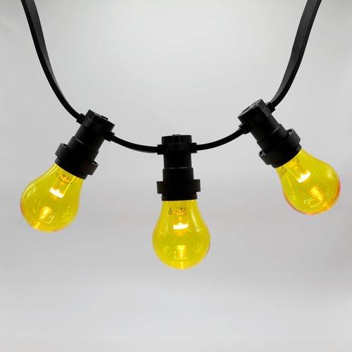 Lichterkette Glühbirne farbig, LED mit Abdeckung & Linse, gelb - 1 Watt