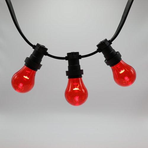 Lichterkette Glühbirne farbig, LED mit Abdeckung & Linse, rot - 1 Watt