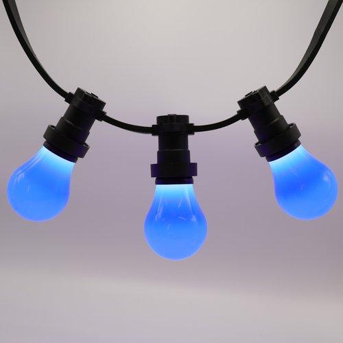 Lichterkette Glühbirne farbig, große Abdeckung, blau, LED 2 & 5 Watt