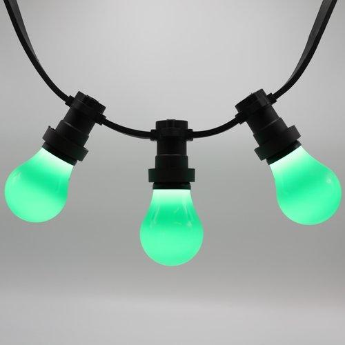 Lichterkette Glühbirne farbig, große Abdeckung, grün, LED 2 & 5 Watt