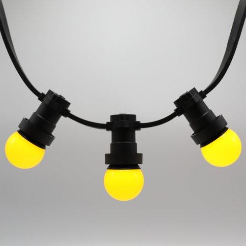 Lichterkette Glühbirne farbig, LED 1 Watt, gelb