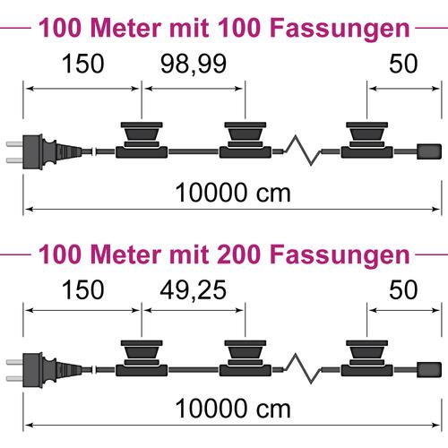 Illu Lichterkette 100 Meter
