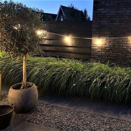Illu Lichterkette, 1 Watt LED Filament Glühlampe, weißes Kabel, 10-50 Meter