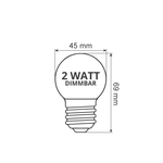 Illu Lichterkette, LEDs mit transparenter Abdeckung, dimmbar, 5-100 Meter
