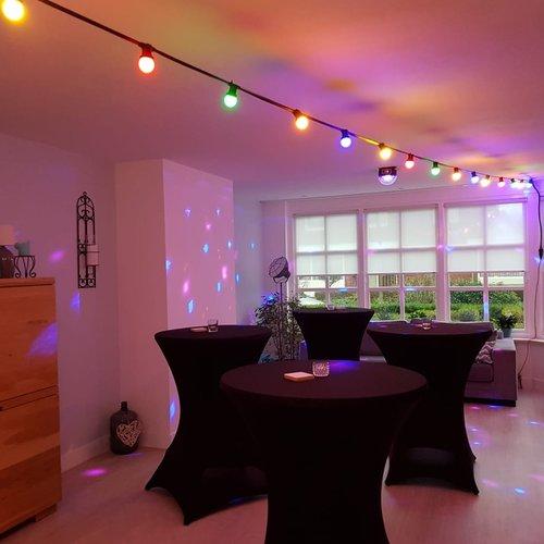 Lichterkette Glühbirne farbig, LED 1 Watt, orange