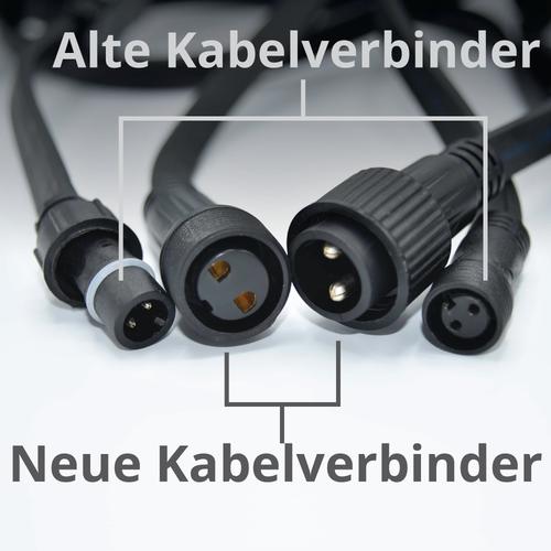 Kabelverbinder Konverter für Illu Lichterketten (alt zu neu)