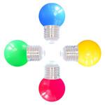 Gemischtes Set, 4 farbige LEDs, Ø45