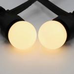 Illu Lichterkette, LEDs mit milchig weißer Abdeckung, 5-100 Meter