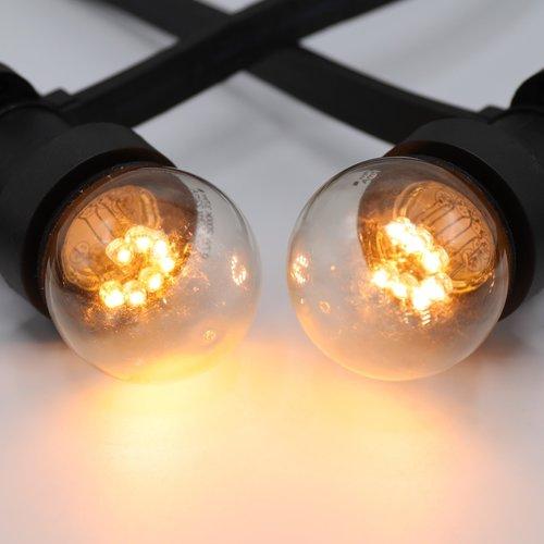 Lichterkette Glühbirne mit kurzen Stöckchen - 0,7 Watt LED