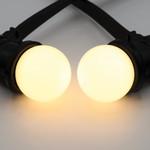 Lichterkette Glühbirne, LED mit milchig weißer Abdeckung
