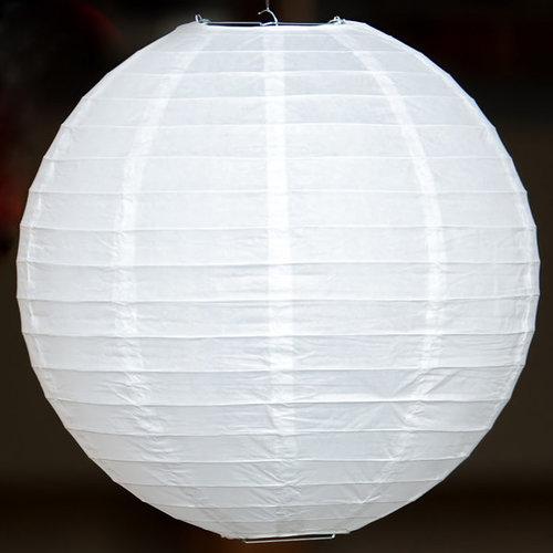 Weiße Lampions für den Außenbereich, Ø25cm