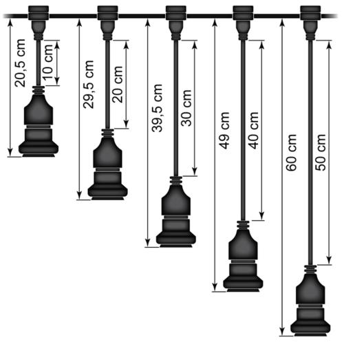 Hängesockel (schwarz) - Selbstmontage (ohne Lampe)