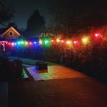 Lichterkette Glühbirne farbig, Filament LED, dimmbar, blau - 3,5 Watt