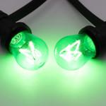 Illu Lichterkette, 4 farbige LED Filament Glühlampen, dimmbar