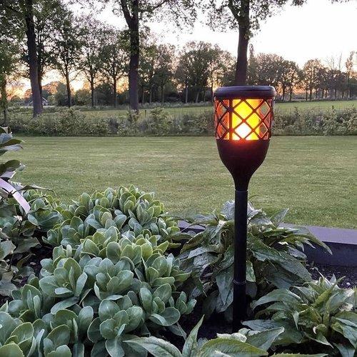 Solar-Tischlampe 2W mit Flammeneffekt