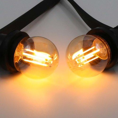 2,5W & 4,5W Filament Glühlampe, 2000K, Braunglas Ø45 - dimmbar