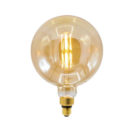 10W Doppelstock-Glühlampe XXXL, 2000K, Braunglas Ø200 - dimmbar