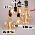 10W Doppeldecker-Glühlampe XXL, 2000K, Braunglas Ø160 - dimmbar