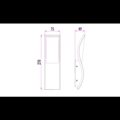Design-Wandleuchte Mica - anthrazit