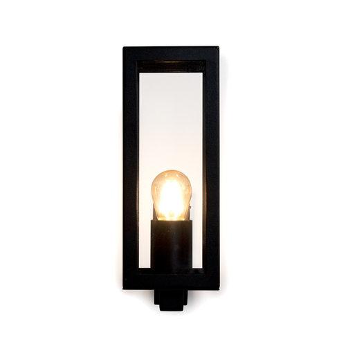 Moderne schwarze Wandleuchte aus Edelstahl mit Glas - Carlo