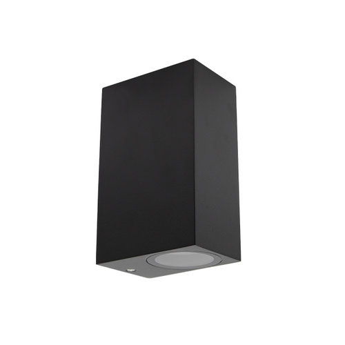 Moderne quadratische Wandleuchte Dutchman - schwarz