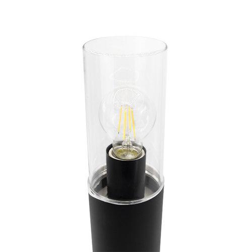 Edelstahl-Stehleuchte Stella schwarz, 50 cm