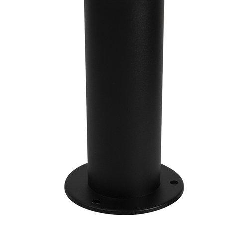 Moderne Außenlampe Bruno schwarz mit Sensor, 80 cm