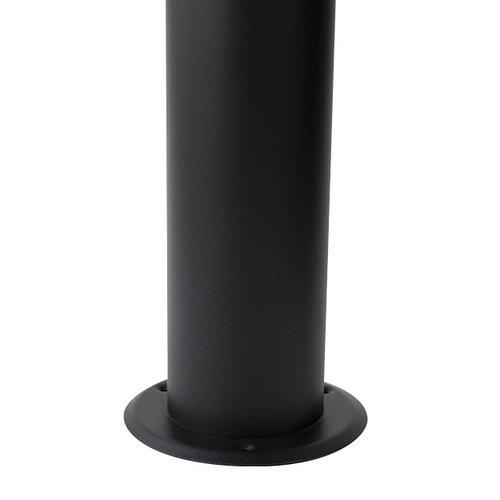 Edelstahl-Stehleuchte Stella schwarz, 80 cm