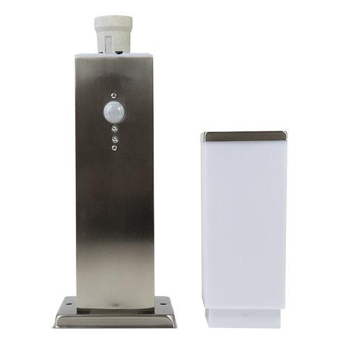 Edelstahl-Stehleuchte Leopoldo mit Sensor, 45 cm