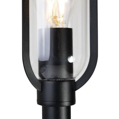 Edelstahl schwarz Landhauslampe Alessandro, 80 cm