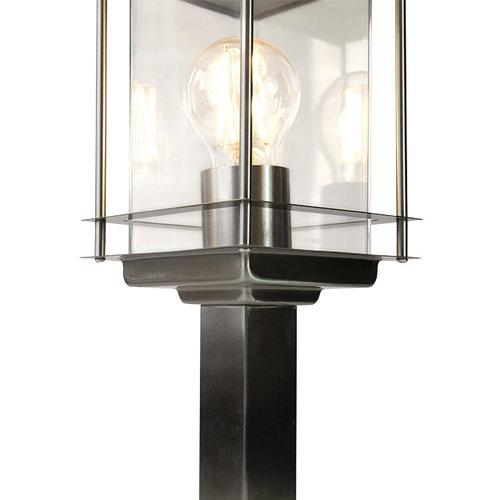 Klassische Außenleuchte Rocco Edelstahl, 45 cm