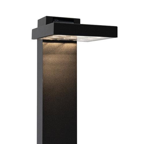 Moderne schwarze Außenlampe Carla, 50 cm