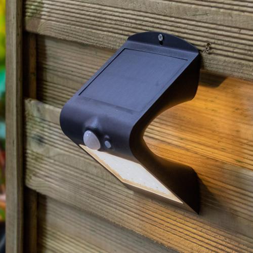 Solar-Wandleuchte Alien 1,5W mit Sensor - schwarz