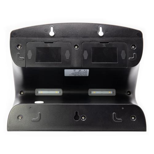 Schwarze Solar-Wandleuchte mit Sensor Double Conan, 6,8 W