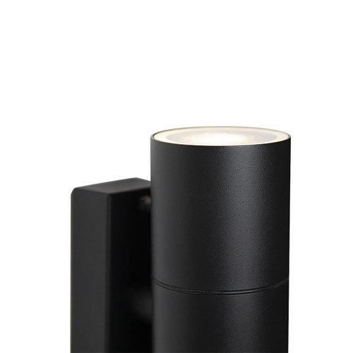 Runde Wandleuchte schwarz Olivia - 2-flammig