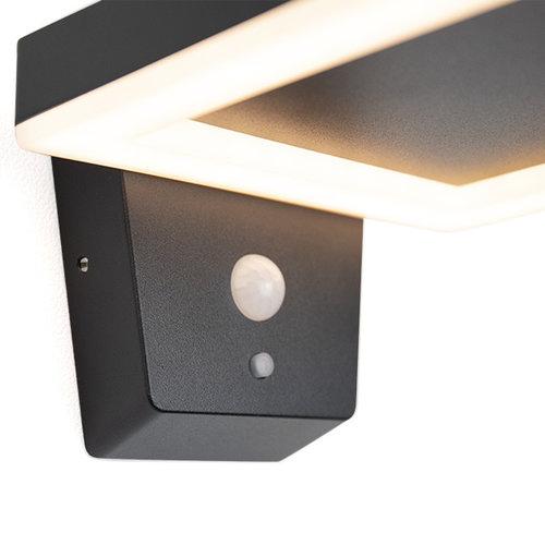 Moderne Außenwandleuchte mit Sensor Pablo - schwarz