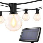 Solar Lichterkette für den Außenbereich mit 20 kleinen runden Lichtern - 10 Meter