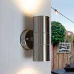 Edelstahl-Design-Wandleuchte Amy - 2-flammig
