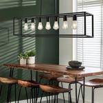 Industrielle Hängelampe schwarz in schwarz mit 7 Lampen - Zagreb-Käfig